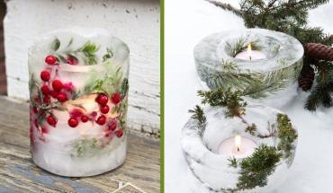 jégből készült kültéri dekorációk