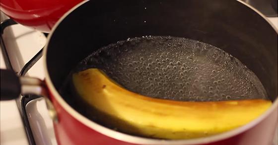 banán tea
