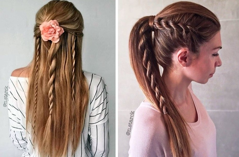 969f280b99 Észbontó ötletek kétbalkezeseknek: különleges frizurák, egyszerű kötélfonás  technikával